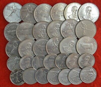 PORTUGAL LOT OF 32 coins UNC / 2$50 and  5$00  /  COMEMORATIVAS /   Lote Nº 3