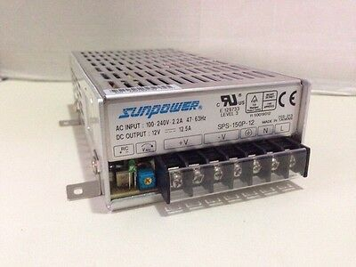 Sunpower SPS-150P-12 Switching Power Supply 150W 12Vdc 12.5A Free Shipping!!