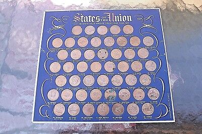 50 State of the Union,  Solid Bronze State Coin Collectors Set, Shell Oil 1969