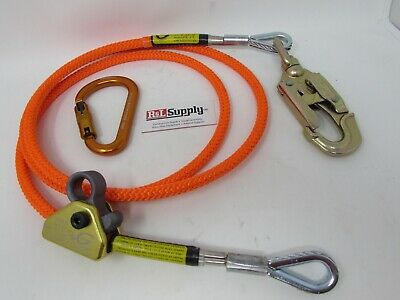 "Climb Right 1//2/"" X 8/' Steel Core Lanyard Kit Flipline 75221 Swivel Snap Arborist"