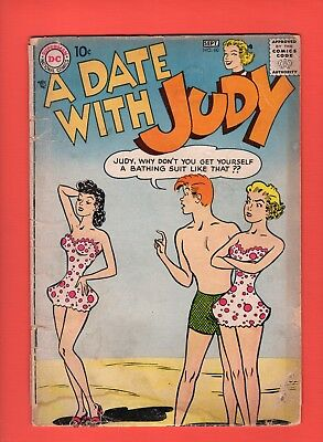 A Date With Judy #60 - DC 1957 - Beach cover!  -- --  1.8  GD-  cond.