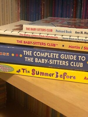 The Baby-Sitters Club:Summer Before, BSC Novel, Complete guide, Postcard & Note.