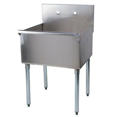 """24"""" Stainless Steel One Compartment Commercial Restaurant Sink"""