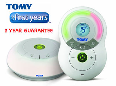 Tomy TF525 Digital Audio Baby Alarm Monitor Y7574 Nightlight Lullabies Temp