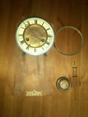 Antique Junghams Vienna Wall Clock Circa 1900 Parts