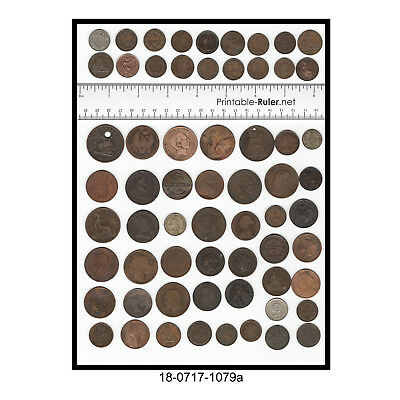 Lot of over 60 Foreign Coins From the 1800's