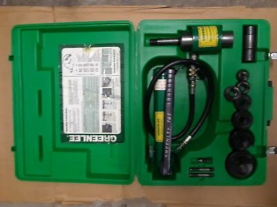 Greenlee 7306 hydraulic knockout punch driver set.
