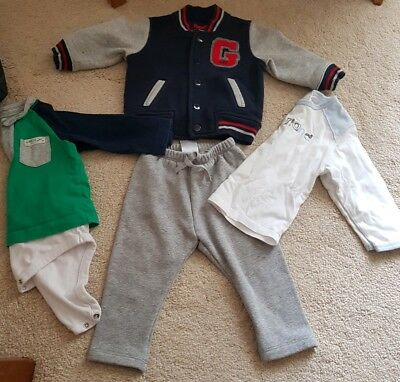 Baby Boy Bundle 6-12 months. GAP outfit + Timberland top. Joggers, jacket, tops