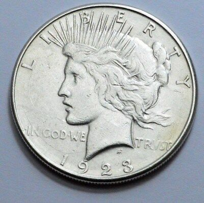 1923-S  Peace Dollar Superb Silver Coin $1.00,  NO RESERVE !!!