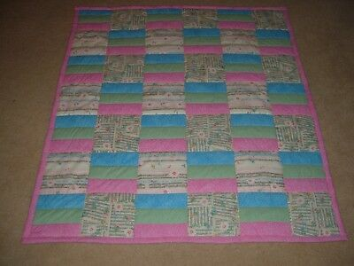 Baby Or  Toddler Girl Musical Theme Quilt Handmade Ready For Giving