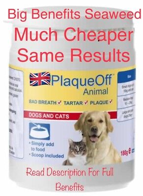 """100g-420g Gets PlaqueOff Cure Smelly Breath Skin Coat Care Fast P&P""""TRY IT"""" 🐶🐱"""