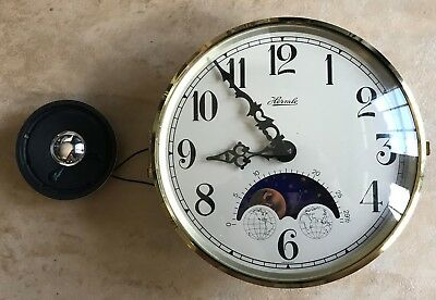 Hermle Quartz Tambour Mantel Clock  21133-N92115 - All Parts Made in Germany