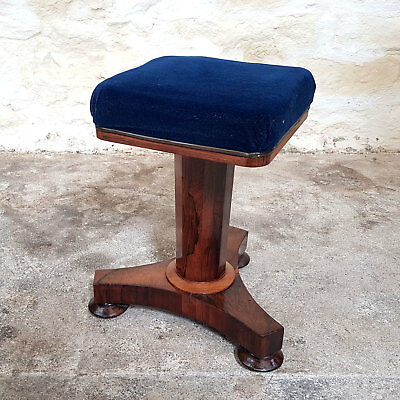 William IV Rosewood Adjustable Piano Stool - C1830