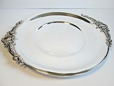 Quaker Sterling Silver 15 inch Round Tray Hollowware