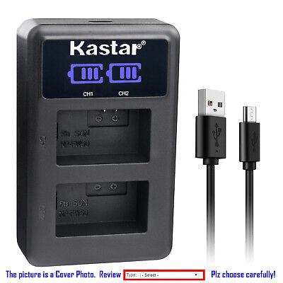 Kastar Battery LCD Dual Charger for Sony NP-FW50 BC-VW1 & ILCE-6500 Alpha a6500