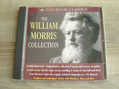 WILLIAM MORRIS CD ROM Arts And Crafts E BOOK biography ESSAYS ART SOCIALIST anar