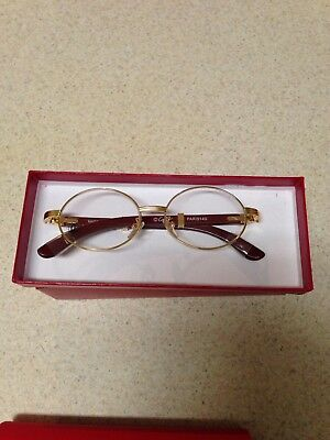 Cartier Wood Glasses  (Rim ) Oval Style