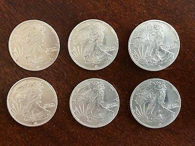 Six (6) 1/10 Troy Ounce Silver Rounds | Walking Liberty - Lot of 6