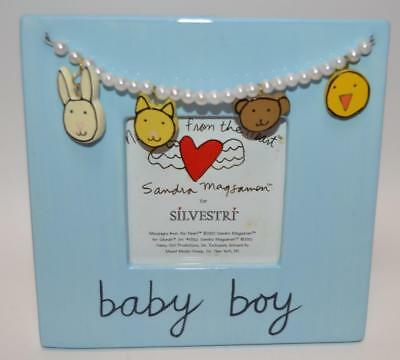 NEW Silvestri Cute 3D Blue It's a BABY BOY Picture Frame Shower Gift - FREE SHIP