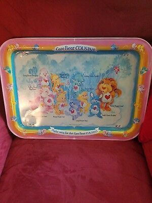 CUTE Collectible Pink Care Bears TV Tray 80s Television Toys