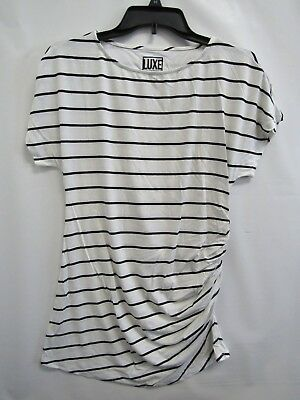 New Luxe Essentials by A Pea In The Pod Maternity Striped Women's Shirt Top XS