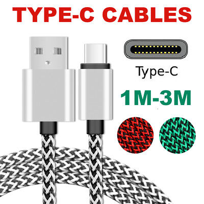 Type-C USB Charger Cable Lead Cord 2M 3M Long for Samsung Galaxy S8 Plus Note S9