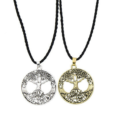 Ancient Silver/Bronze Viking Tree of Life Necklace Vintage Jewellery Amulet Gift