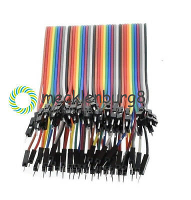 40pcs Male to male Dupont Wire Cables Jumper 10cm 2.54MM 1P For Arduino NEW