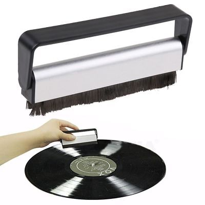 Professional Anti-Static Vinyl Record Velvet Cleaning Cleaner Pad Brush Audio