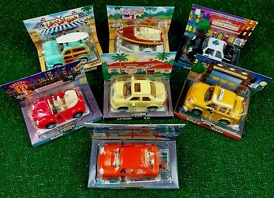 Lot Of Seven Collectible Chevron Promo Cars 1997, '98, '99 New In Boxes