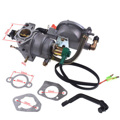 Carburetor Dual Fuel Manual Control Propane/Gasoline Fit Honda GX340/GX390