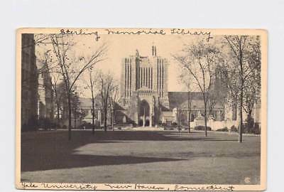 Antique Postcard Connecticut New Haven Yale Sterling Memorial Library American S
