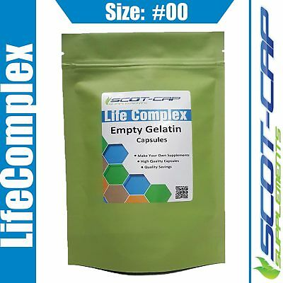 Empty Gelatin Capsules, Size 00#, Clear, Self Fill, 100 200 500 1000 2000 5000