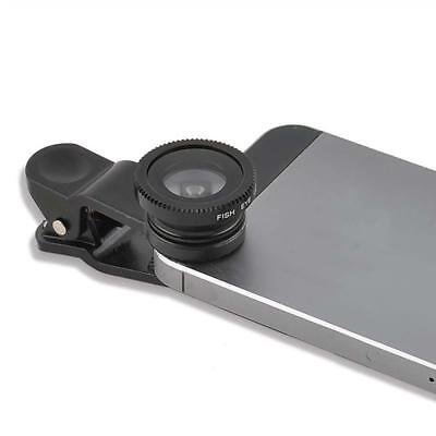 3 in 1 Fish Eye +Wide Angle Micro Lens Camera Kit for iPhone 5G 4S 4 6 Plus A GL