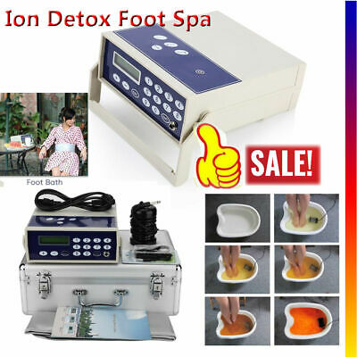 Ionic Detox Foot Bath Spa Cleanse Machine Far infrared Ion Waist Belt Care US