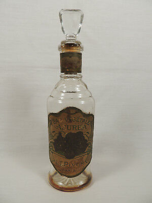 Antique Eau Vegetale Azurea L.T. Piver Paris Perfume Bottle
