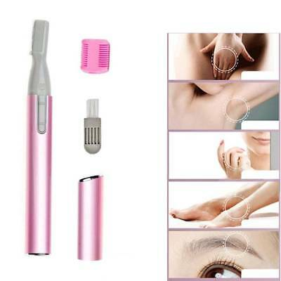 Pro Women Electric Face Eyebrow Hair Body Blade Razor Shaver Remover Trimmer AU