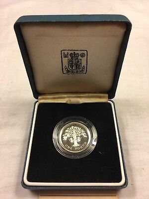 1987 UK SILVER GREAT BRITAIN 1 POUND PROOF With COA
