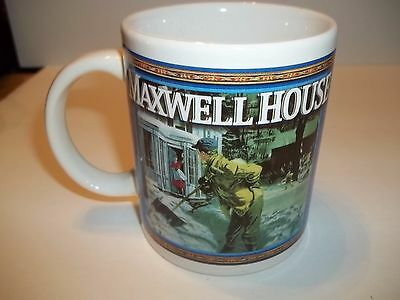 Maxwell House Coffee Cup Mug Firehouse Art Print Houston Harvest Kraft Foods