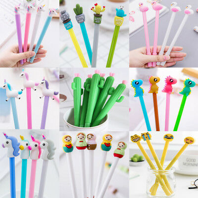 Wholesale 9 Styles Gel Pen Ballpoint Stationery Writing Sign Child School Office