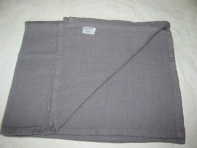 CATHAY PACIFIC airline blanket travel throw grey woven airway Hong Kong