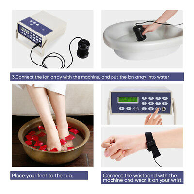 Professional Ionic Detox Foot Bath Spa Cleanse Machine Far infrared Ion