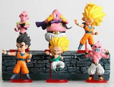 6 X Dragonball Z Cake Toppers Kids Birthday Party Toys Cupcake Decoration