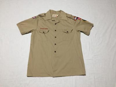 Official BSA Boy Scouts Short Sleeve Uniform Shirt with Patches Adult Large