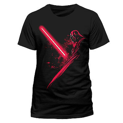 Star Wars T-Shirt - darth vader shadow - Gr. S - Lizenzshirt / Neu !