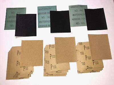 💥36 Pieces Sandpaper Sheets 80-400 Grit Wet Dry Abrasive Paper Sanding Painting