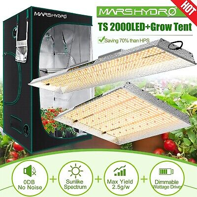 Mars Hydro led pflanzenlampe vollspektrum+ Indoor Grow Tent Kit Multi-size