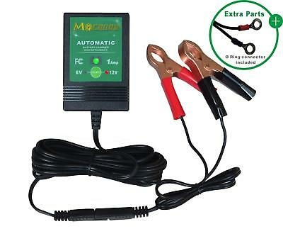 6V / 12V 1A fully automatic trickle battery charger maintainer for automotive
