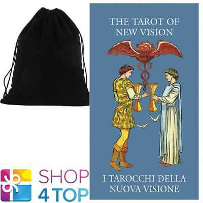 New Vision Mini Tarot Cards Deck Esoteric Lo Scarabeo With Velvet Bag New