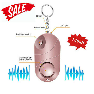 130dB Safe sound Personal Alarm Self-defense Keychain Emergency Anti-Attack Tool